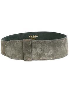 широкий замшевый ремень Alaïa Vintage