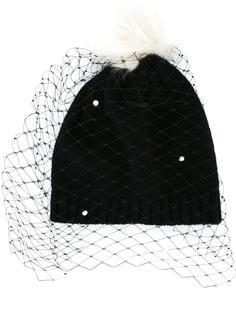 шапка с вуалью и помпоном Bernstock Speirs