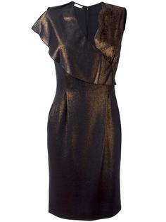 металлизированное платье с кружевной отделкой Emanuel Ungaro