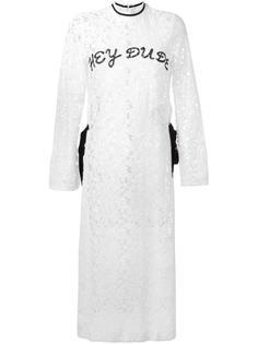длинное кружевное платье 'Hey Dude' Steve J & Yoni P