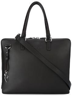 сумка для ноутбука с плетеными ручками Salvatore Ferragamo