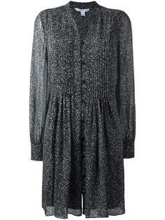 платье-рубашка с мелким узором Diane Von Furstenberg