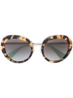 солнцезащитные очки с круглой оправой Prada Eyewear