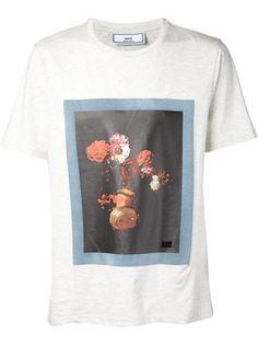 футболка с принтом роз Ami Alexandre Mattiussi