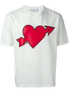 футболка с принтом сердца Ami Alexandre Mattiussi