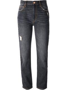 джинсы-бойфренд с потертыми деталями  Isabel Marant Étoile