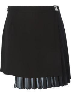 плиссированная юбка с запахом Versus