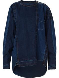 джинсовая толстовка с необработанными краями Sacai