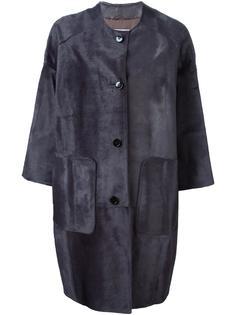 однобортное короткое пальто Yves Salomon