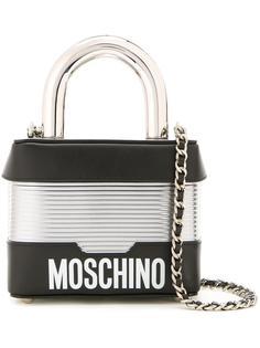 сумка-замок на плечо  Moschino