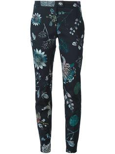 брюки с цветочным принтом Versus