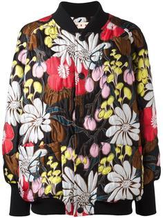 куртка-бомбер с цветочным принтом Marni