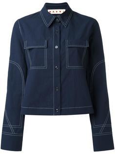 рубашка с контрастной строчкой Marni