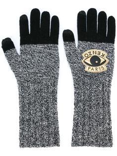 трикотажные перчатки 'Eye' Kenzo
