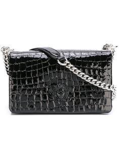 сумка на плечо с тисненым узором 'Medusa' Versace