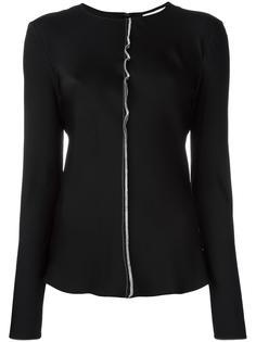 блузка с контрастной строчкой DKNY