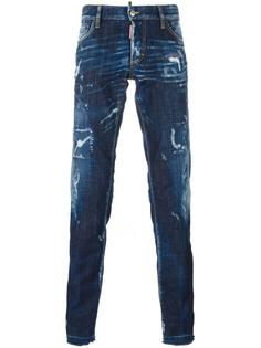 узкие вареные джинсы Dsquared2