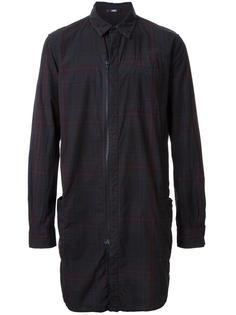 удлиненная рубашка в клетку на молнии Assin