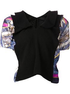 свитер с контрастными рукавами Comme Des Garçons
