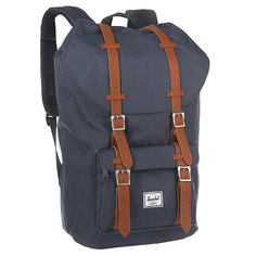Рюкзак туристический Herschel Little America Navy/Tan Synthetic Leather