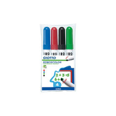 Набор маркеров для белой доски со скошенным толстым наконечником 4шт. Lyra