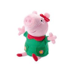 """Мягкая игрушка """"Пеппа модница озвученная"""", 20 см, Peppa Pig Росмэн"""