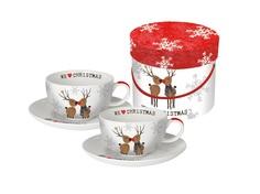 "Набор чашек для капучино ""We love christmas"" Alessi"