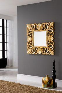 Зеркало PU021 золото Dupen