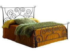 Кровать 511 (160х200) состаренное золото Dupen