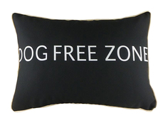 "Подушка с надписью ""Dog Free Zone"" DG"