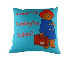 "Подушка с принтом ""Paddington Bear Blue"" DG"