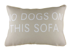 "Подушка ""No Dogs on This Sofa"" DG"