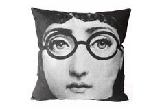 "Подушка с портретом Лины Пьеро Форназетти ""Glasses"" DG"