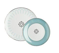 """Комплект тарелок """"Turquoise Veil"""" (2 шт) DG"""