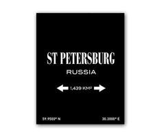 """Постер """"St.Petersburg"""" DG"""