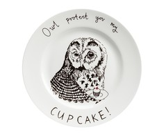 "Тарелка ""Owl protect You My Cup Cake"" DG"