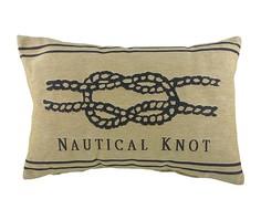 """Подушка с морским узлом """"Nautical Knot Natural"""" DG"""