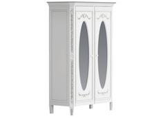 """Шкаф платяной двухстворчатый с овальными зеркалами """"Будуар"""" La Neige"""