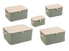 "Набор из пяти коробок для хранения ""Soft"" Bizzotto"