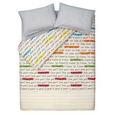 """Комплект постельного белья """"Love grey"""" Deepot"""