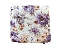 """Декоративная подушка """"Ноктюри"""" с шелковой отстрочкой с фиолетовым компаньоном Between Home"""