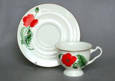 Чайная Чашка с блюдцем Айседора Кардинал Императорский Фарфоровый Завод