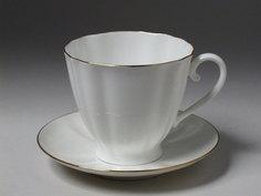Чайная Чашка с блюдцем Гвоздика Золотой кантик Императорский Фарфоровый Завод