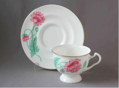 Чайная Чашка с блюдцем Айседора Олимпия Императорский Фарфоровый Завод