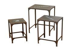 """Набор из трех столиков """"Print"""" Boltze"""