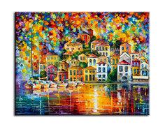 """Картина """"Яхты Неаполя"""" Muzante"""