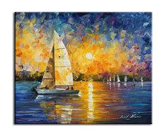 """Картина """"Закат на море"""" Muzante"""