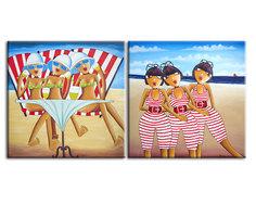 """Картина """"Пляжный диптих"""" Muzante"""