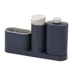 """Органайзер для раковины с дозатором для мыла и бутылочкой """"Sinkbase plus"""" Joseph Joseph"""