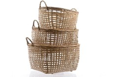 Комплект из трёх бамбуковых корзин Polkadot Store
